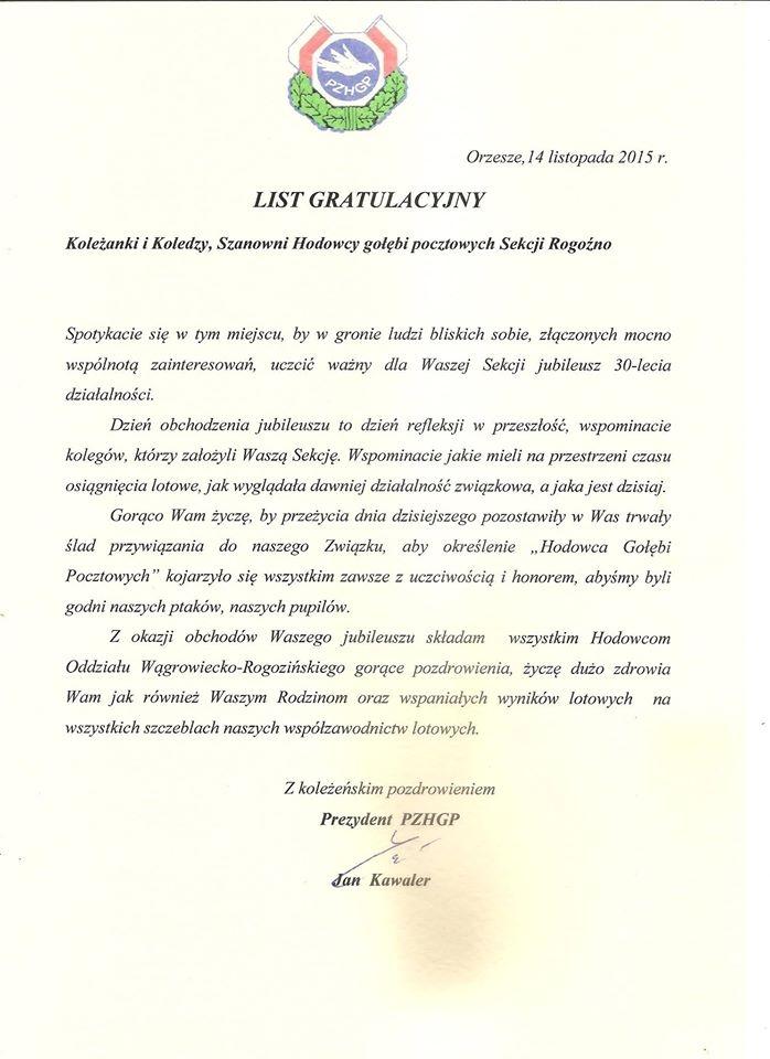 list-gratulacyjny